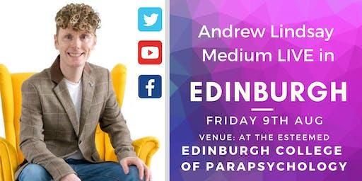 "Andrew Lindsay Medium  Live -  EDINBURGH ""Spirit on Earth Tour"""