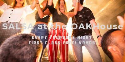 Free Salsa Classes at the OAKHouse - Maldon - Thursdays
