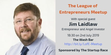 Find Co-Founders, Advisers and Investors with Entrepreneur/Angel Investor - Jim Laidlaw tickets