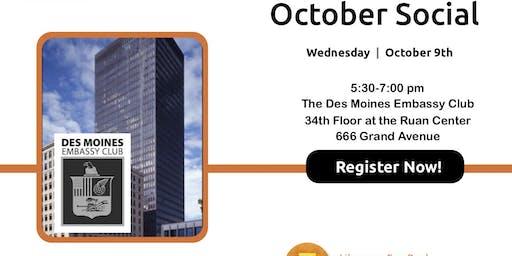 October 2019 Social at Des Moines Embassy Club at Ruan