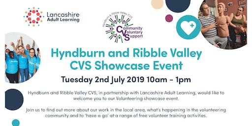 Hyndburn and Ribble Valley CVS Showcase Event