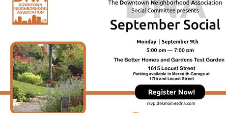 September 2019 Social at The Better Homes and Gardens Test Garden tickets