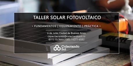 Taller Solar Fotovoltaico CABA //Julio 2019 entradas