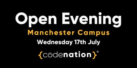 Code Nation Open Evening - Manchester Campus tickets