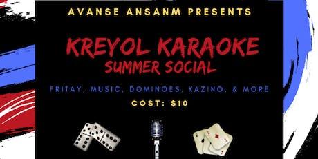 Kreyol Karaoke Summer Social tickets