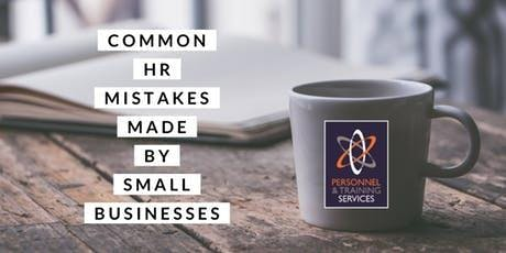 Common HR mistakes made by Small Businesses (in conjunction with Viridor) tickets