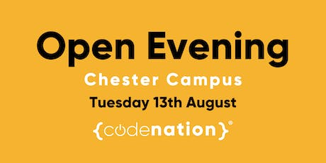 Code Nation Open Evening - Chester Campus tickets