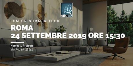 Presentazione Lumion Roma biglietti