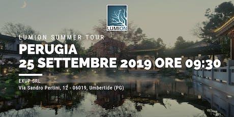 Presentazione Lumion Perugia biglietti