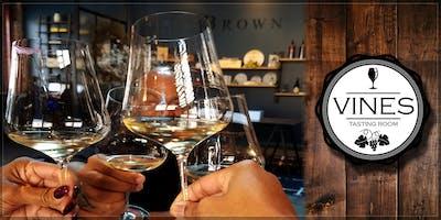 Vines Tasting Room – A Pop-Up Featuring Brown Estate Wine