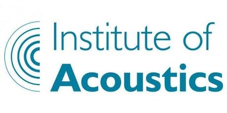 Institute of Acoustics London Branch Meeting - September 2019 - LSBU Keyworth Centre tickets