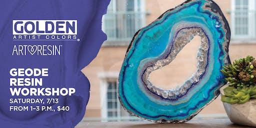 Geode Resin Workshop at Blick Tampa
