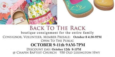 Back To The Rack Fall Consignment Sale tickets