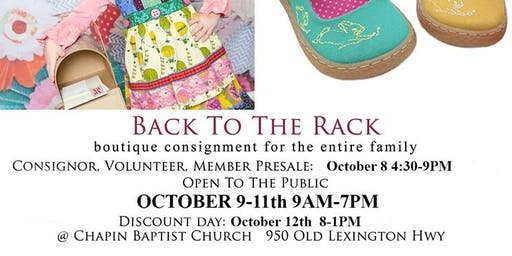 Back To The Rack Fall Consignment Sale