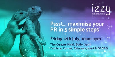 Maximise your PR in 5 Simple Steps - October 11th