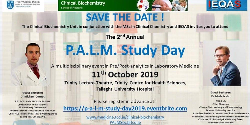 3eacff598f0 Pre/Post-Analytics in Laboratory Medicine Study Day (P.A.L.M.) 2019  Tickets, Fri, Oct 11, 2019 at 9:00 AM | Eventbrite