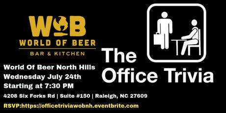 The Office Trivia at World of Beer North Hills tickets