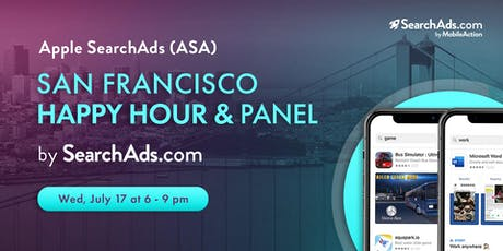 Apple Search Ads Happy Hour & Panel by SearchAds.com (Event 3)  tickets
