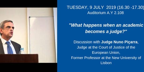 What happens when an academic becomes a judge? tickets