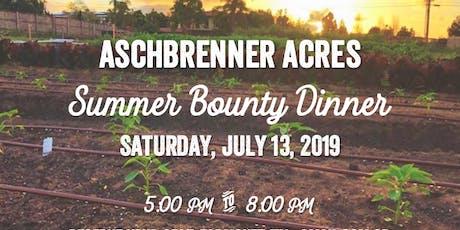 Summer Bounty Farm Dinner tickets