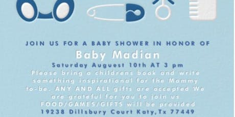 It's a boy babyshower for Starr Henry  tickets