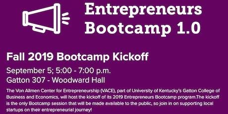 Fall 2019 Entrepreneurs Bootcamp Kickoff!  tickets