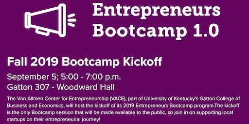Fall 2019 Entrepreneurs Bootcamp Kickoff!