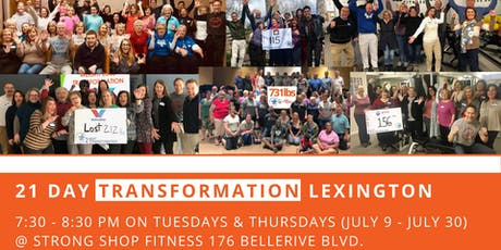 21 Day Transformation - Lexington @ Strong Shop tickets