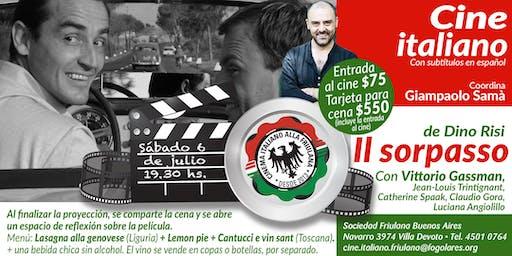 Il sorpasso di Dino Risi - 6 de julio a las 19.30 hs - Cine y cena con espacio de reflexión