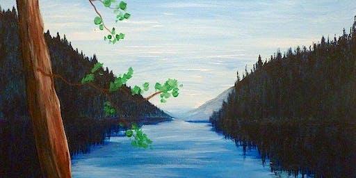 """Serenity"" Acrylic Painting Class 7/17"