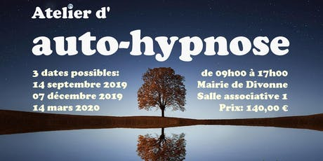 Atelier d'auto-hypnose le 14 septembre à DIvonne 01220 billets
