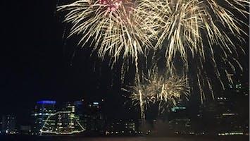 Harborfest Fireworks and Parade of Lights Cruise on Adirondack III