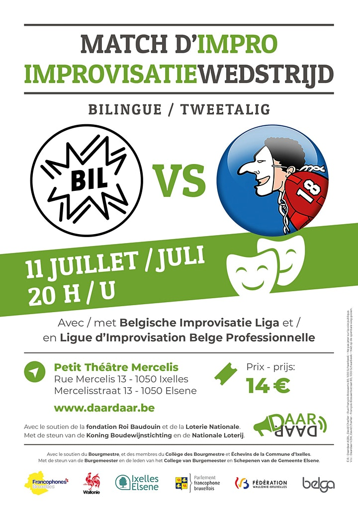 Image pour Match d'IMPRO bilingue Daardaar - 11/07 - Bruxelles
