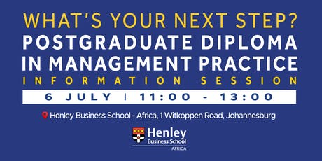 PGDip Information Session - at #HenleyAfrica tickets