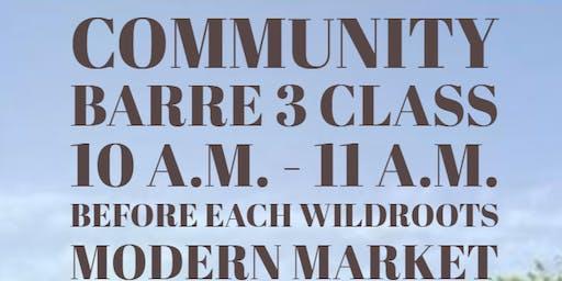 Community Barre3 class!