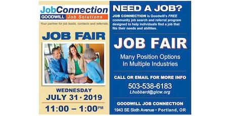Job Fair - Portland - 7/31/19 tickets