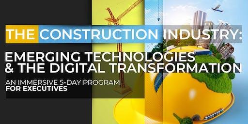 Construction: Emerging Technologies and Digital Transformation| Executive Program | November