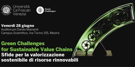 Green Challenges for Sustainable Value Chains biglietti