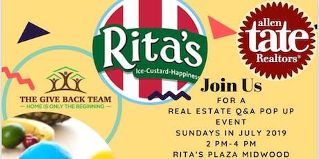 Real Estate Q&A At Rita's  tickets