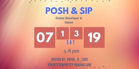 Posh & Sip Roxborough tickets