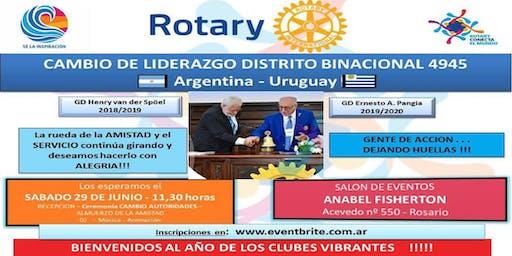 ROTARY CAMBIO DE AUTORIDADES DISTRITO BINACIONAL 4945