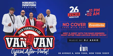 Los Van Van New York Concert After-Party! Free! No Cover! tickets