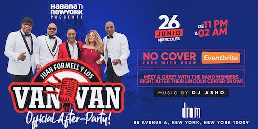 Los Van Van New York Concert After-Party! Free! No Cover!