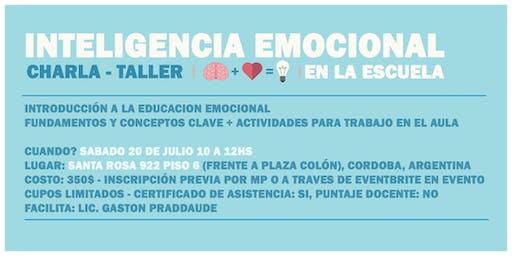 Charla-taller 'Inteligencia Emocional en la Escuela'