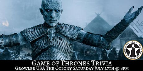 Game of Thrones Trivia at Growler USA The Colony tickets