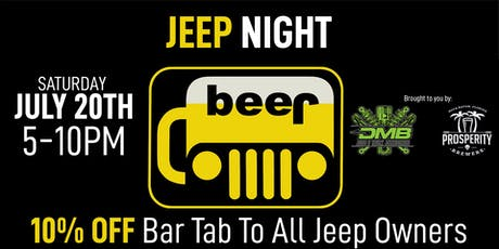 Jeep Night at Prosperity Brewers tickets
