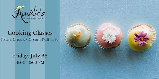 Cooking Class: Pate a Choux - Cream Puff Trio