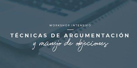 WORKSHOP: Técnicas de Argumentación y Manejo de Objeciones entradas