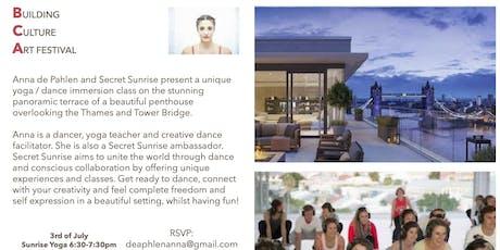 Secret Sunset and yoga  tickets