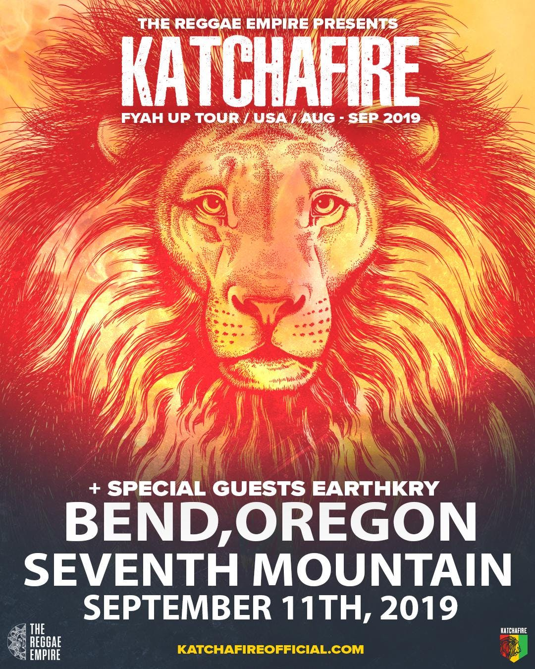Katchafire & Earthkry Fyah Up Tour 2019 @ Seventh Mountain